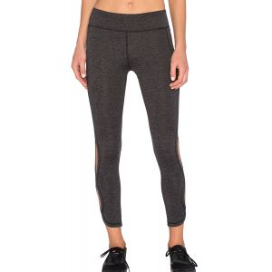 Dusty Charcoal Cutout Side Sports Leggings