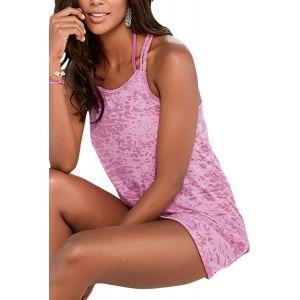 Rosy Braided Racerback Burnout Beach Dress - Пляжная одежда