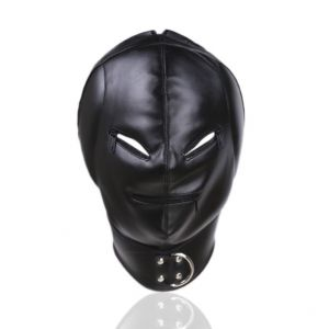 PU-Leather hood Ears Padding Mouth and Eyes Zipper