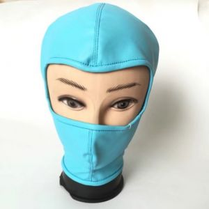 Latest PU-Leather hood Showing Eyes BLUE