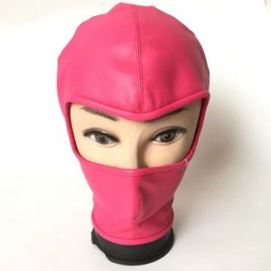 Latest PU-Leather hood Showing Eyes RED