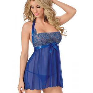 Sexy Blue Women Babydoll