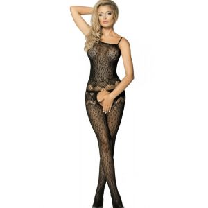 Translucent bodystocking Leopard