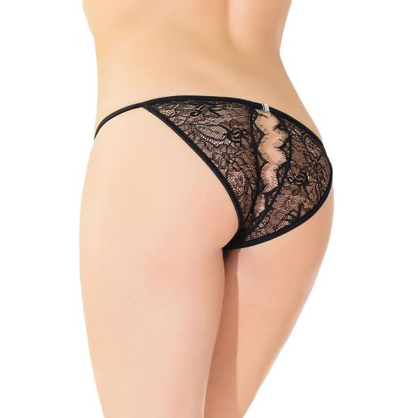 Subtle Eyelash String Waist Panty with Hollow-out