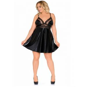 2XL-6XL Sexy Women Umberlla Vinyl Dress
