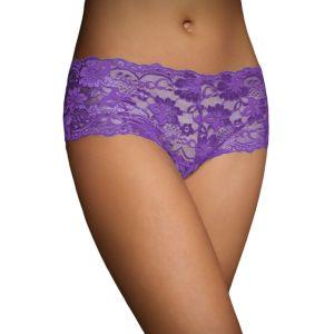 Фиолетовые кружевные трусики - шортики