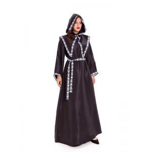 Black and White One Size Skeleton Robe halloween Costume