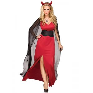 Red Fashion Halloween Costume Party Dresses