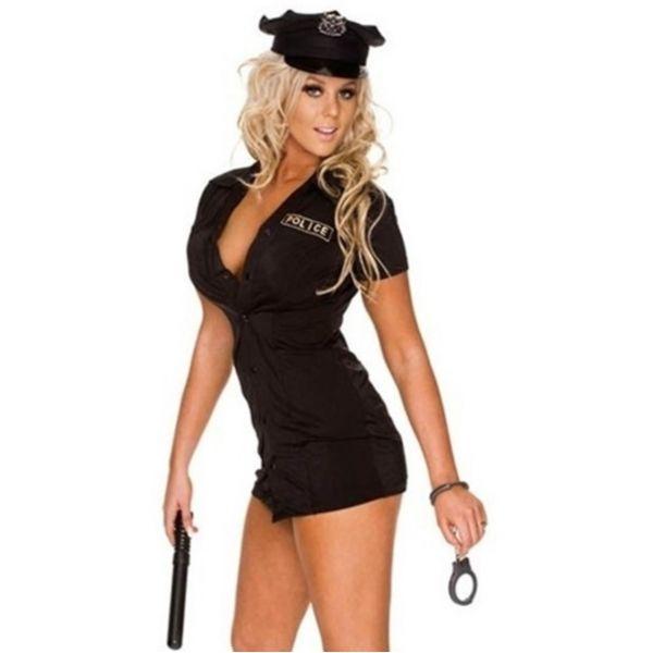 Женский черный костюм полицейского