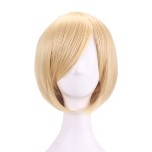 Blonde Short Straight Synthetic Cosplay Wigs