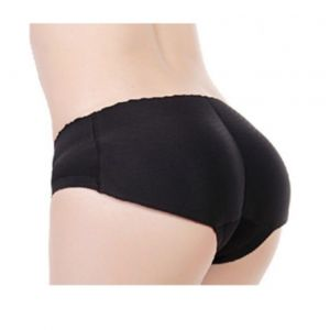 Black Fake Shape Buttom Sexy Women Panties