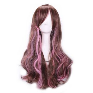 Long curly synthetic wig harajuku
