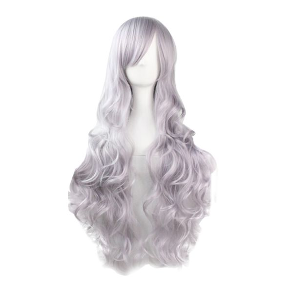 Серебряно-серый длинный парик