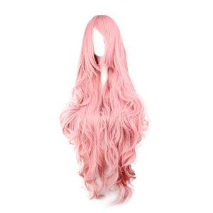 Розовый длинный парик - Парики
