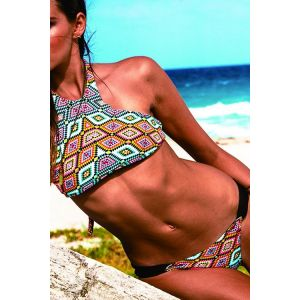 Swimsuit with tribal print