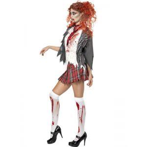 high School horror Zombie Girl Costume