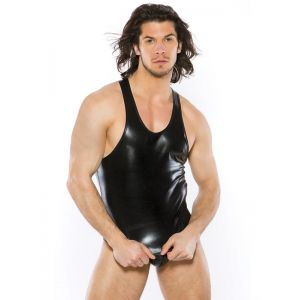 Black sexy mens t-shirt and underwear briefs