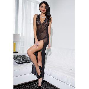 Black One Size Side Split Gown