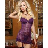 Stretch Lace Garter Slip Set