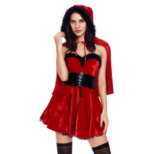 Little Red Damsel Xmas Costume