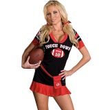 Black And Red Fantasy Football Costume