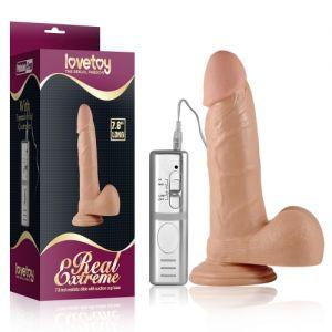 Realistic vibrator Real Extreme Vibrating Dildo, flesh