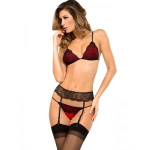 Red Sexy Women Lingerie Set