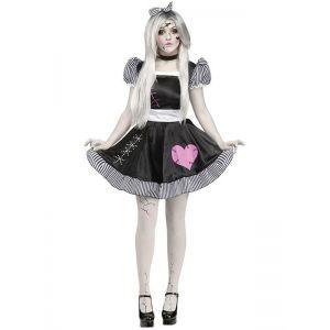 Black One Size Broken Lolita Doll halloween Costume