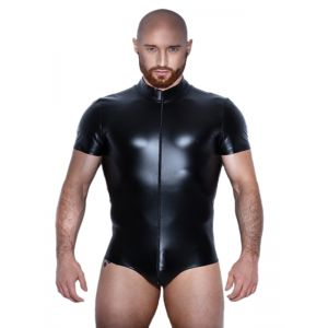 Black Fashion Leather Men Teddies Lingerie