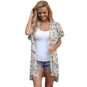 Пляжная одежда с цветочным принтом и короткими рукавами - Пляжная одежда