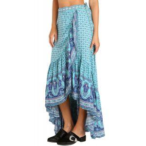 Blue Gypsy Style Print Sarong Beach Dress