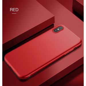 РАСПРОДАЖА! Чехол на Iphone XS / Iphone X / Iphone 10 из тонкого матового TPU красный