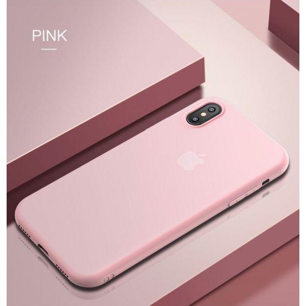 РАСПРОДАЖА! Чехол из тонкого матового TPU для Iphone X / Iphone 10 розовый