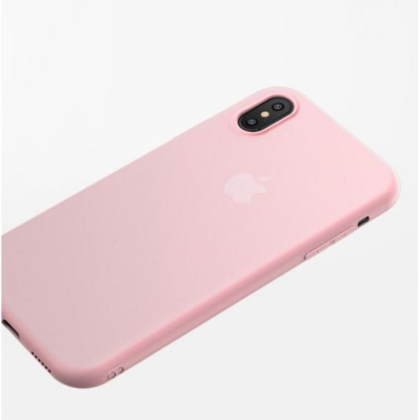 SALE! Case for Iphone XS / X-Iphone / Iphone 10 out of slim matte TPU pink. Артикул: IXI54789