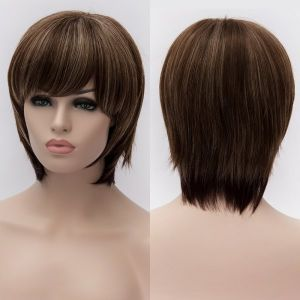 SALE! Wig short hair with highlights