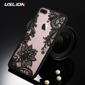 РАСПРОДАЖА! Чехол для iphone 8 plus/iphone 7 plus кружево, черный