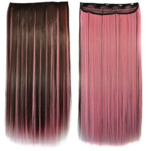 РАСПРОДАЖА! Волосы на заколках светло-розовые