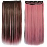 РАСПРОДАЖА! Волосы на заколках светло-розовые по оптовой цене