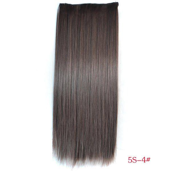 РАСПРОДАЖА! Волосы на заколках коричневый 5S-4#