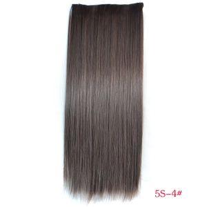 РАСПРОДАЖА! Волосы на заколках коричневый 5S-4# - Парики