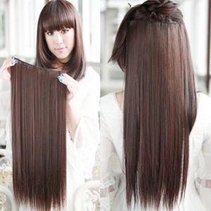 РАСПРОДАЖА! Волосы на заколках коричневый 5#