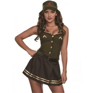 Green Army Woman Costume