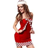 Red Off Shoulder Christmas Costume