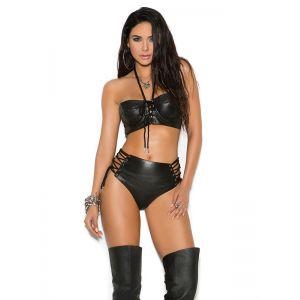 Black Sexy Bandage Lingerie Set