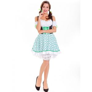 Sexy Women French Maid Costume Green