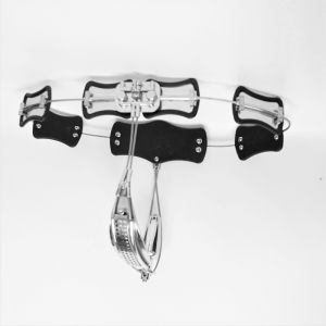 Stainless Steel Model-T Adjustable Female Chastity Belt Device With Anal Plug