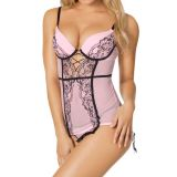 Pink Push Up Lace Babydoll