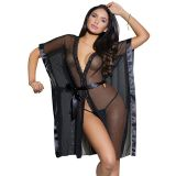 Black One Size Sexy V Neck Gown