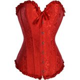 Red Overbust Pattern Corset