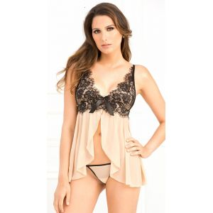 New Arrival Apricot Sexy Babydoll Chemise